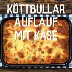 Köttbullar casserole with cheese - Delicious Meets Healthy: Quick and Healthy Wholesome Recipes Sugar Cookie Recipe Easy, Chocolate Cookie Recipes, Peanut Butter Cookie Recipe, Easy Cookie Recipes, Tasty Video, Easy Meal Prep, Easy Meals, Casserole Recipes, Crockpot Recipes