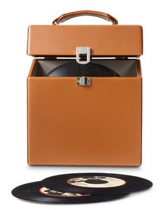 Crosley | 45 Record Carrying Case - Tan #crosley #accessories #carryingcase #45 #vinyl