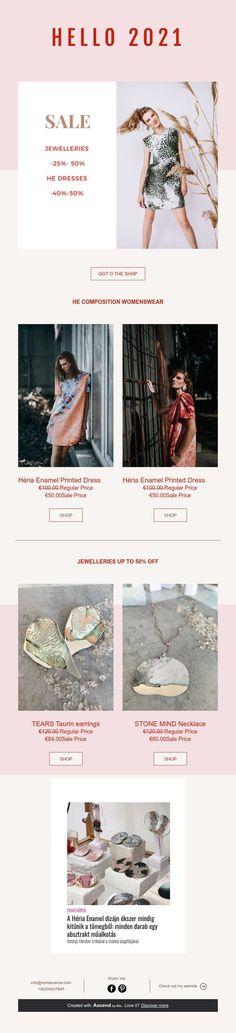 -50% SALE- HELLO 2021 Handmade Jewelry, Enamel, Unique, Shop, Vitreous Enamel, Handmade Jewellery, Jewellery Making, Enamels, Diy Jewelry