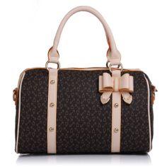 Price:$32.99 Material: PVC Color: Mocha Bowtie Mixed Colors Elegant Tote Crossbody Bag