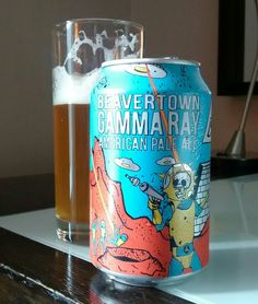 Gamma Ray pale ale, made by Beavertown Brewery, from London. Discovered and enjoyed in Dublin, Ireland. #GammaRayPaleAle #BeavertownBrewery #BeavertownGammaRayPaleAle #beercanart