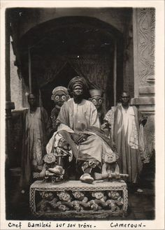 Africa |  Bamum King Ibrahim Njoya on his throne. Foumban, western Cameroon, 1912.