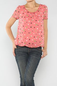 Polka Dot Sheer Top #Fall #Fashion #Shop #wholesale #polkadots #dots #ootd #wiwt #Clothing #WOTD