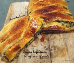 Trenza hojaldrada de espinaca y ricota | Le Cookbook