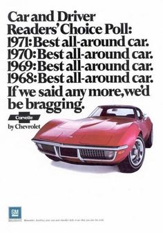 1971 Corvette Advertisement