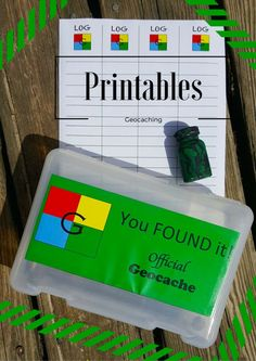 Geocache Printable Log sheets & Signs for Geocaching Containers + Recycle Container Tips for Bathroom products! #CG #CaretoRecycle