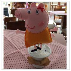 Enfeite de Mesa em Feltro - Peppa Pig e Amigos