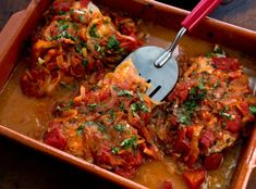Greek Baked Fish With Tomatoes and Onions Recipe