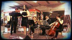 Cuarteto Ollinco y Dhyana Arom, interpretando boleros para las madres en #Tacuba #L7