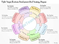 1113 Business Ppt Diagram Eight Stages Business Development And Strategy Diagram Powerpoint Template #Powerpoint #Templates #Infographics