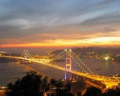 The Tsing Ma bridge, Hong Kong