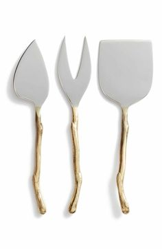 Main Image - Nordstrom at Home Twig Set of 3 Cheese Knives