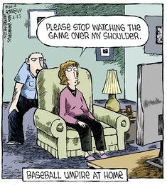 Baseball Umpire at Home | #baseball #strike #funny | Speed Bump on Alphacomedy.com