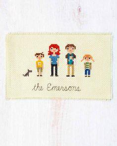 Cross-Stitch Family Portrait
