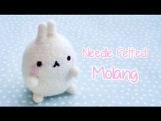 Molang is one of my favourite characters! In this tutorial, I will demonstrate how to needle felt an adorable Molang. I chose to work with polyester stuffing...