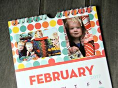 HP Sprocket Photo Calendar | Easily personalize plain dollar store calendars with photo stickers from your HP Sprocket!