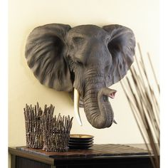 Buy Noble Elephant Wall Decor at wholesale prices. If you need Noble Elephant Wall Decor in bulk at a discount price then buy from WholesaleMart. Elephant Wall Decor, Elephant Head, Elephant Love, Bull Elephant, Elephant Elephant, Safari Home Decor, Safari Decorations, Elephant Decorations, Wall Decorations