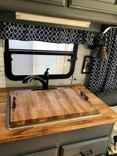 Motorhome Remodel ~ Part 8 (Dinette Butcher Block Table & SinkCover)