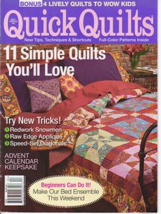 Quilting, Instruction, Magazine Patterns by Fons and Porter by ... : quick quilt magazine - Adamdwight.com