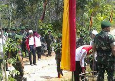 Penanaman pohon di Nan Tujuah Kecamatan Palupuh bersama dengan KODIM 0304 Agam