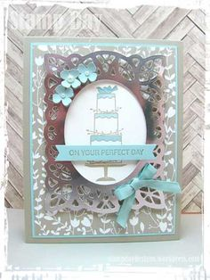On Your Perfect Day - by - Cards and Paper Crafts at Splitcoaststampers Anniversary Cards, Wedding Anniversary, Paper Art, Paper Crafts, Your Perfect, Wedding Cards, Stampin Up, Card Making, Fun