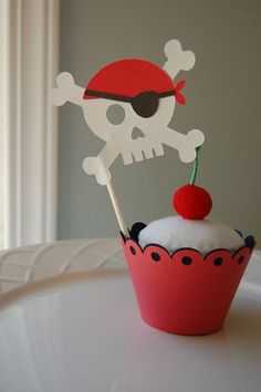 Pirate Cupcake Topper for my boys