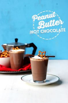 Peanut Butter Hot Chocolate // The Sugar Hit