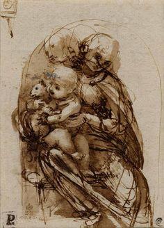 Leonardo da Vinci - Virgin and child with a cat