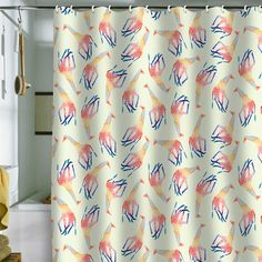 Jacqueline Maldonado Watercolor Giraffe Shower Curtain