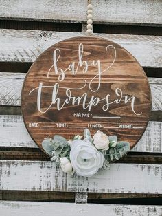 Baby hospital door hanger, perfect for gender neutral nurseries! Hospital Door Signs, Hospital Door Hangers, Baby Door Hangers, Hospital Bag, Baby Hospital Wreath, Maternity Photo Props, Birth Announcement Sign, Baby Name Signs, Rustic Nursery