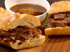 Slow Cooked French Dip Recipe : Aaron McCargo Jr. : Food Network - FoodNetwork.com