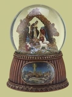 Christmas Nativity 100MM Musical Snow Globe Glitterdome  Plays Tune OHoly Night >>> To view further for this item, visit the image link.