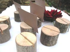 5 round place card holders from a fallen tree by thisfineday, $5.00