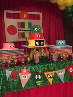 Yo Gabba Gabba birthday party! See more party ideas at CatchMyParty.com!