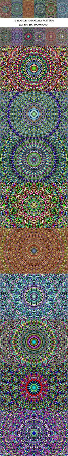12 Floral Mandala Seamless Patterns #floral #GraphicDesign #MandalaGraphics #design #boho #repeat #boho #bohemian #BohoDesign #BohemianDesign #mandala #background #MandalaDesign #ornament #MandalaArt #MandalaPatternDesign #SeamlessMandalaPatterns #background #mandala #MandalaPatterns Mandala Pattern, Mandala Design, Pattern Art, Pattern Design, Square Patterns, Flower Patterns, Color Patterns, Mandala Floral, Mandala Art