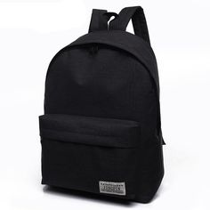 6b7d60f8de55 Male Canvas black Backpack College Student School Backpack Bags for  Teenagers Mochila Casual Rucksack Travel Daypack