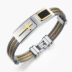 New Stainless Steel Cross Bracelet
