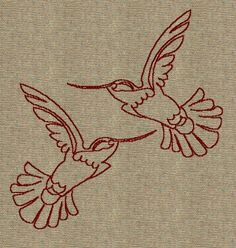 Hummingbirds :) Bird Patterns, Applique Patterns, Foil Art, Punch Needle, Diy Christmas Gifts, Diy Projects To Try, Cross Stitch Embroidery, Needle Felting, Creative Design