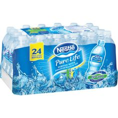 Nestle Pure Life water I have been drinking bottled water since evian, alpin wasser, deer park etc., I just switched last month to Nestles Pure Life October 2013 - Iris Nestle Pure Life Water, Nestle Water, Junk Food Snacks, Food Food, Food Goals, In Case Of Emergency, Water Bottle, Bottled Water, Water Water