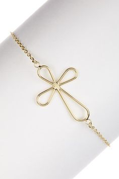14K Gold Cross Bracelet