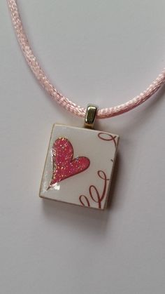 Love scrabble tile necklace heart scrabble tile necklace aloadofball Choice Image