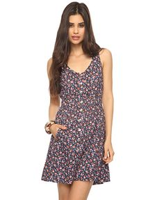 Cutout Back Posy Print Dress | FOREVER21 - 2078966637