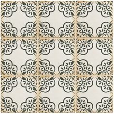 SomerTile 4.875x4.875-inch Chronicle Ornate Ceramic Floor and Wall Tile (Case of 32)