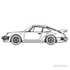 malvorlagen porsche 911 turbo | coloring and malvorlagan