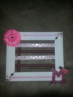 This is a hairbow holder I made for my daughter. It is custom to match her room.