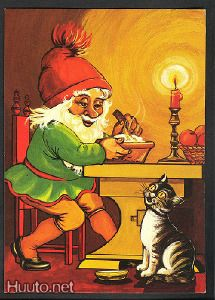 1984 Christmas Fairy, Christmas Cards, Merry Christmas, Elves And Fairies, Cute Fairy, Legendary Creature, Old Postcards, The Elf, Little People