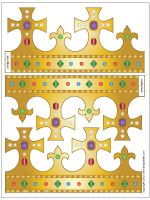 These six free printable crown templates are easy to decorate and assemble into royal paper crowns. Templates include plain ones that you can decorate, ready-to-color crowns, and full-color crowns. Crown Template, Leaf Template, Butterfly Template, Flower Template, Crown Printable, Templates Printable Free, Printable Paper, Applique Templates, Owl Templates