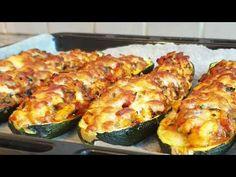 Dovlecei umpluti cu legume si piept de pui - YouTube Romanian Food, Food Videos, Zucchini, Cooking Recipes, Make It Yourself, Vegetables, Foods, Youtube, Decor