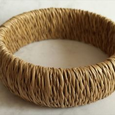 Rope Weave Bangle  Dimensions +/- :  8,5cm diameter x 2,5cm width     Weight +/- :  36 g total