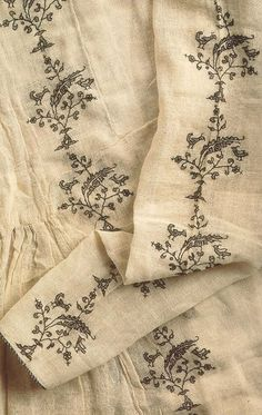 """umla: """"(via Pin by Les Soeurs Anglaises on Textiles Textiles, Blackwork, Embroidery Patterns, Hand Embroidery, Kamiz, Linens And Lace, Historical Costume, Historical Clothing, Fabric Art"""